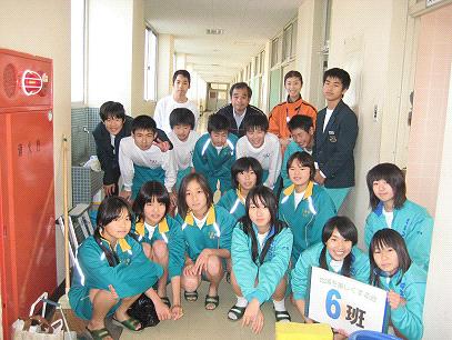 日浦中学校のトイレ磨き