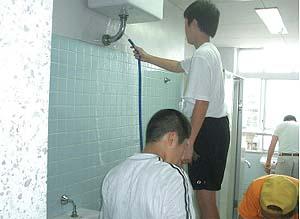 落合中学校の清掃ボランティア