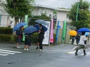 通学路清掃リポート ~久し振りの秋雨~