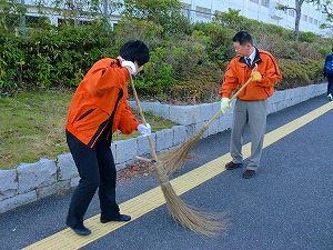 通学路清掃リポート ~白い息~