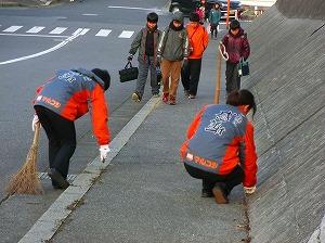 通学路清掃リポート ~元気のよいあいさつ~