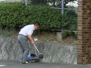 通学路清掃リポート ~雑草よ、さようなら~ 2012年9月5日