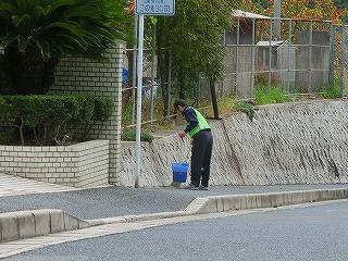 通学路清掃リポート ~台風の余波~