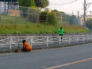 通学路清掃リポート ~嬉しいグリーンのジャンパー~