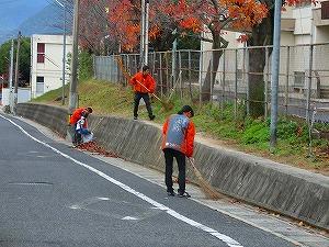 通学路清掃リポート ~無言で通り過ぎる~