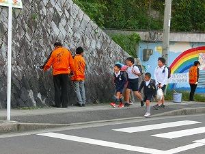 通学路清掃リポート ~グリーン・ピンク・オレンジ~