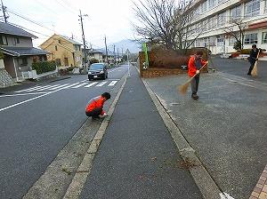 通学路清掃リポート ~雪の予報が外れ~