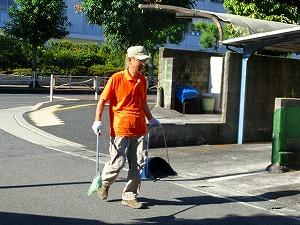 通学路清掃リポート ~田畑さん一番乗り~