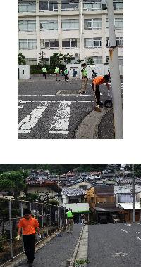 通学路清掃リポート ~先生方の早朝清掃に助けられる~