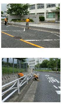 通学路清掃リポート ~突然の大雨で退散~