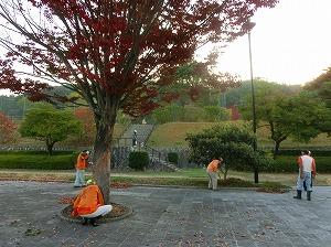 公園清掃リポート ~落ち葉溢れる~