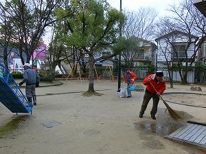 公園清掃リポート ~降り注ぐ冷気~