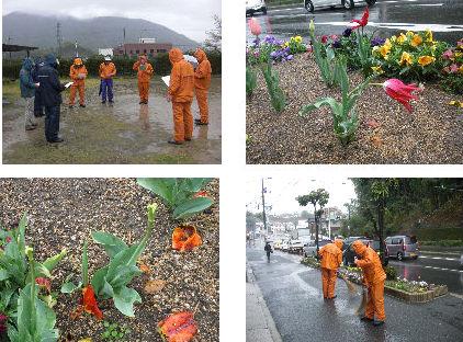 公園清掃リポート ~強い雨の中で~