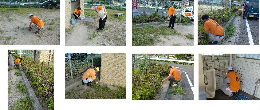 公園清掃リポート ~雑草は猛暑にも負けず~