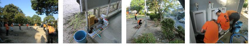 公園清掃リポート ~朝の初秋から、昼は暑秋へ~