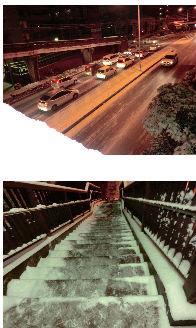 早朝清掃リポート ~連日の凍雪~