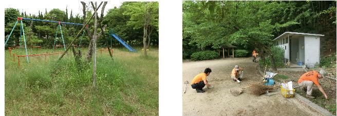 公園清掃リポート ~アジサイに彩られる~