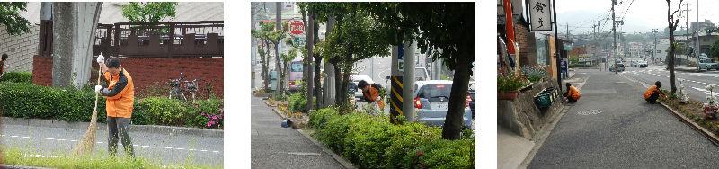 早朝清掃リポート ~動くオレンジの花~